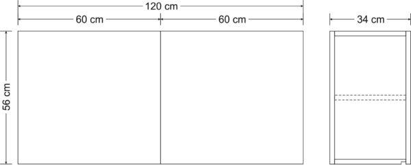 Abmessungen Hängeschrank Stengel HSCL120