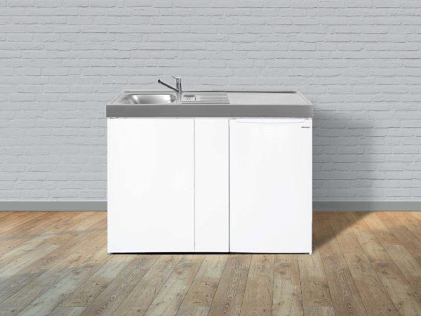 Stengel Miniküche Easyline ME 100 weiß Becken links