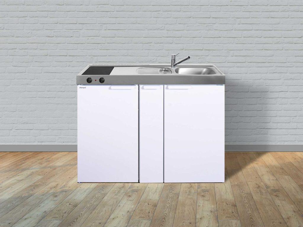 Stengel Miniküche Kitchenline MK 120a mit Kühlschrank weiß