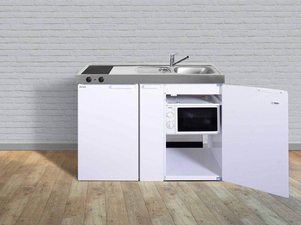 Stengel Miniküche Kitchenline MKM 120a mit Kühlschrank weiß