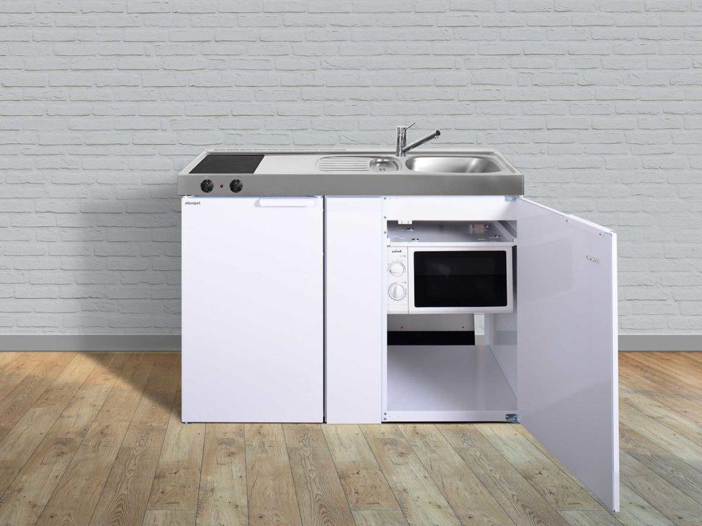 Stengel Miniküche Kitchenline MKM 120 mit Kühlschrank weiß