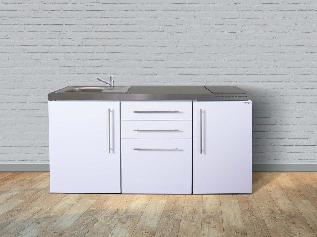 Stengel Miniküche Premiumline MP 170 weiß mit Kühlschrank