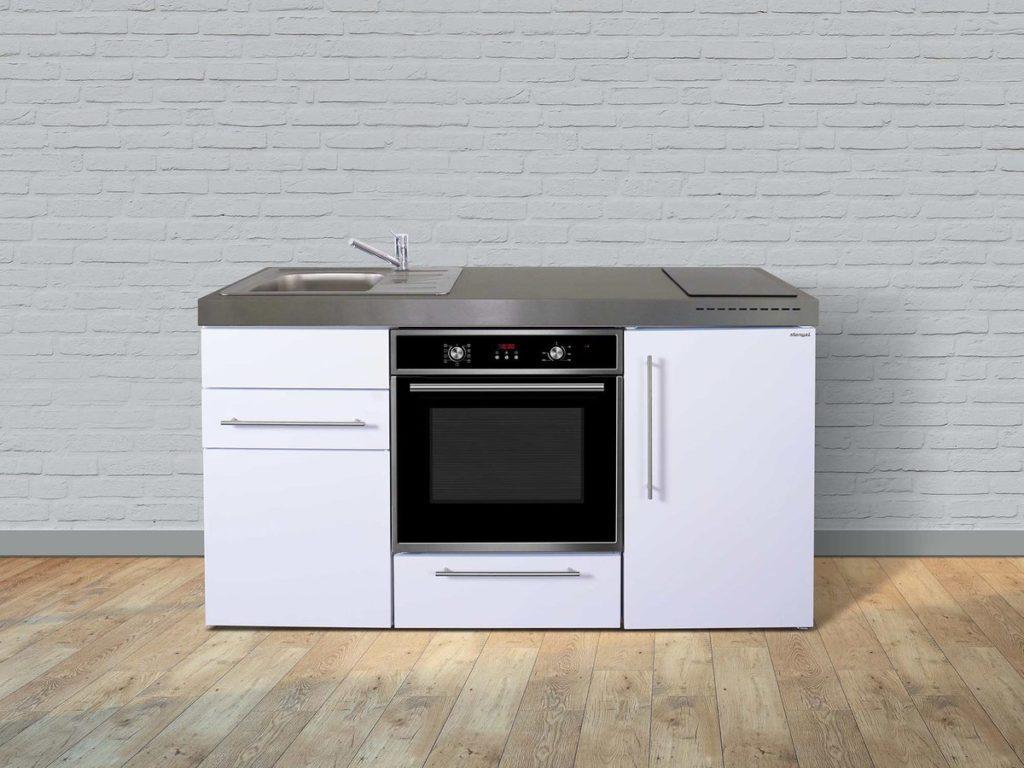 Stengel Miniküche Premiumline MPB 160 mit Kühlschrank weiß