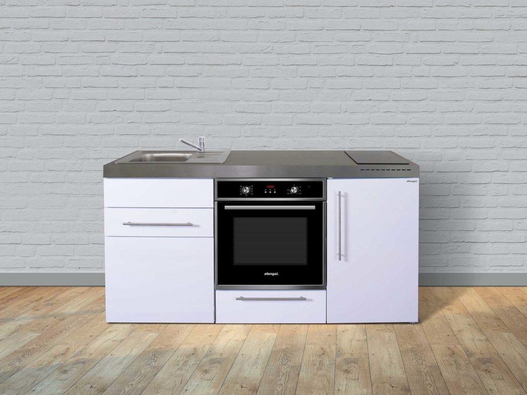 Stengel Miniküche Premiumline MPB 170 mit Kühlschrank & Backofen weiß