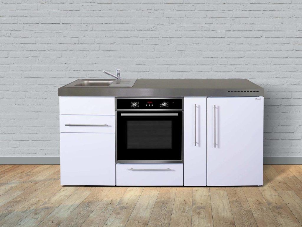 Stengel Miniküche Premiumline mpb 180a mit Kühlschrank & Backoffen weiß