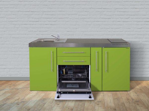 Stengel Miniküche Premiumline MPGS 180a mit Kühlschrank und Geschirrspüler grün