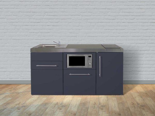 Stengel Miniküche Premiumline MPGSM 170 grau mit Kühlschrank und Geschirrspüler