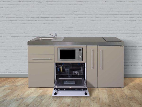 Stengel Miniküchen Premiumline braun mit Kühlschrank & Geschirrspüler