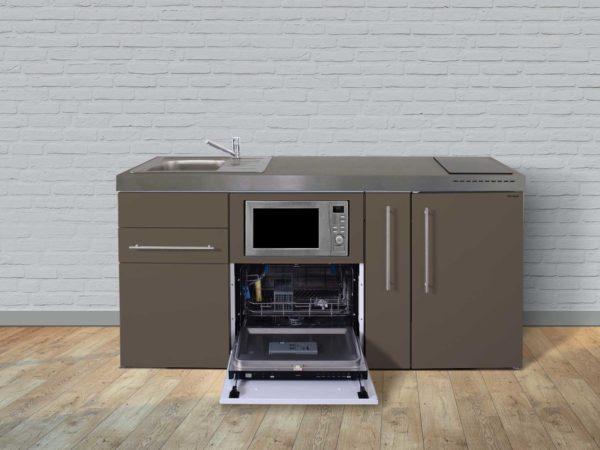 Stengel Miniküche Premiumline MPGSM 180 braun mit Kühlschrank