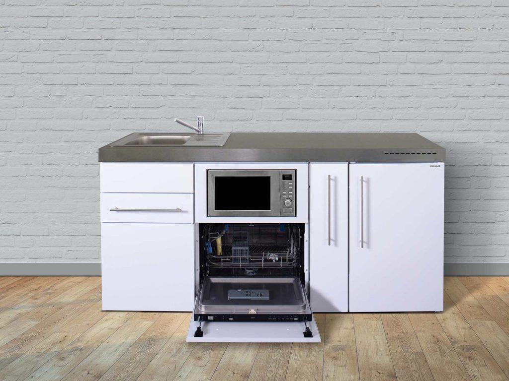 Stengel Miniküchen Premiumline weiß mit Kühlschrank & Geschirrspüler