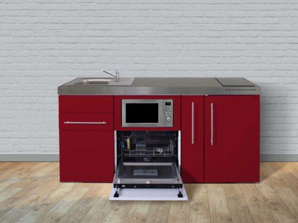 Stengel Miniküchen Premiumline rot mit Kühlschrank & Geschirrspüler