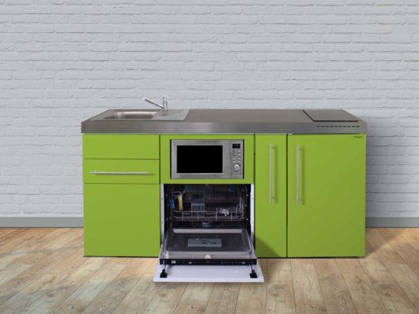 Stengel Miniküchen Premiumline grün mit Kühlschrank & Geschirrspüler