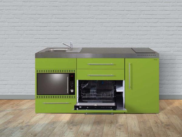 Stengel Miniküche MPGSMOS 180 grün mit Mikrowelle und Geschirrspüler