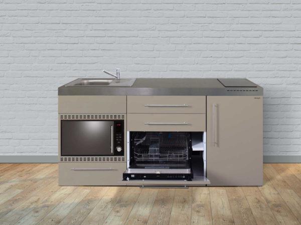 Stengel Miniküche MPGSMOS 180 sand mit Mikrowelle und Geschirrspüler