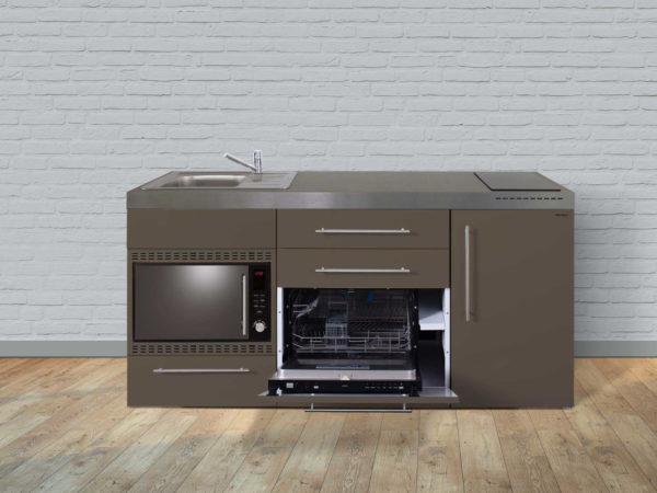 Miniküche Premiumline MPGSMOS 180 Stengel mit Mikrowelle und Geschirrspüler