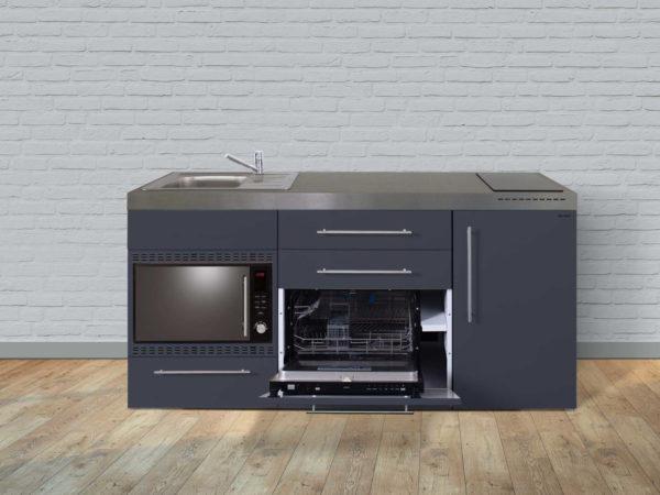 Stengel Miniküche Premiumline MPGSMOS 180 mit Kühlschrank und Geschirrspüler (offen)