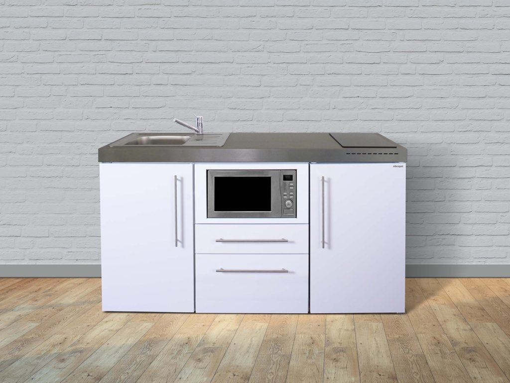 Stengel Miniküche Premiumline MPM 160 mit Kühlschrank weiß