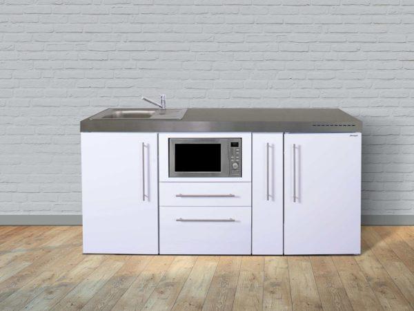 Stengel Miniküche MPM 180a mit Kühlschrank und Mikrowelle weiß