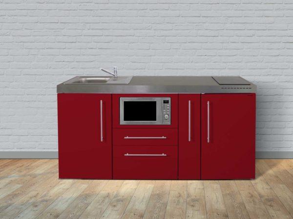 Stengel Miniküche MPM 180a mit Kühlschrank und Mikrowelle rot