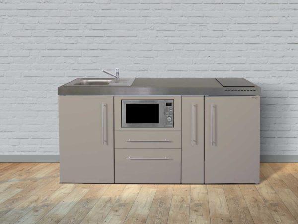 Stengel Miniküche Premiumline MPM 180a mit Kühlschrank und Mikrowelle sand