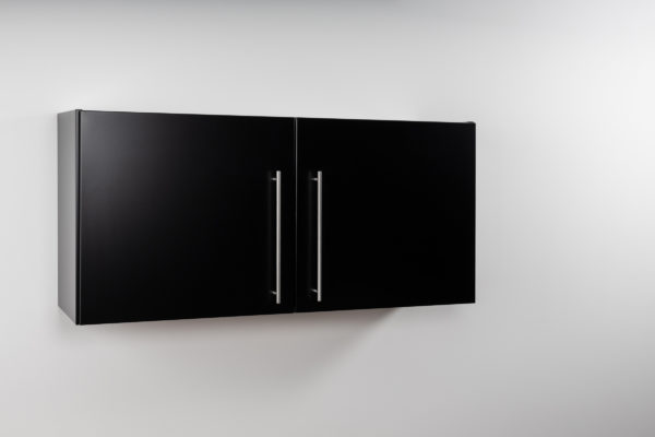 Hängeschrank Premium HSPL 120 geschlossen schwarz