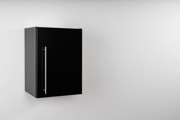 Hängeschrank Premium schwarz HSPL 40 geschlossen