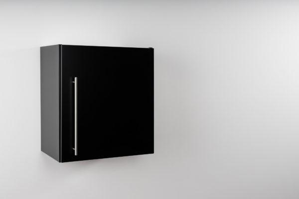 Stengel Hängeschrank Premium HSPL 50 schwarz geschlossen