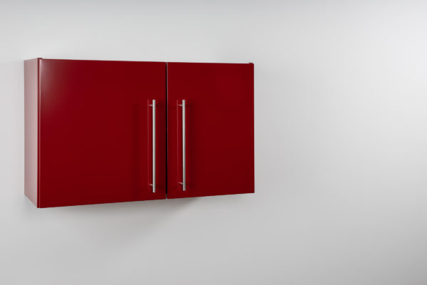 Hängeschrank Premium HSPL 90 rot geschlossen