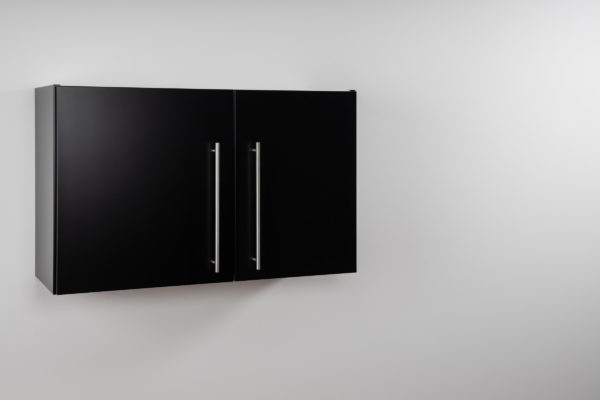 Hängeschrank Premium HSPL 90 geschlossen schwarz