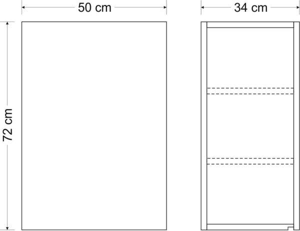 Hängeschrank Premium HSPL 50 Abmessungen