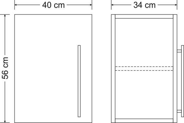 Abmessungen Stengel Hängeschrank Premium HSPL 40