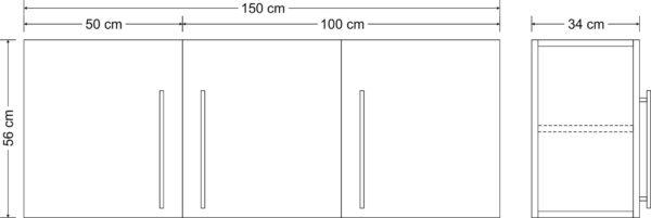 Abmessungen Stengel Hängeschrank HSPL150