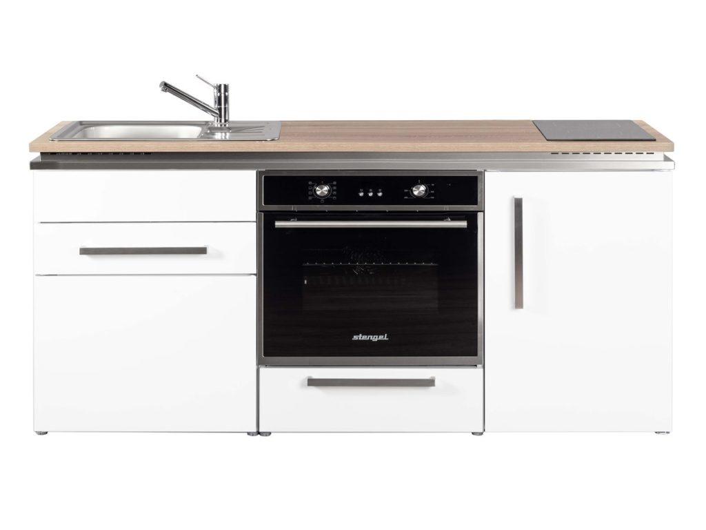 Singleküche weiß Stengel Designline MDB 170