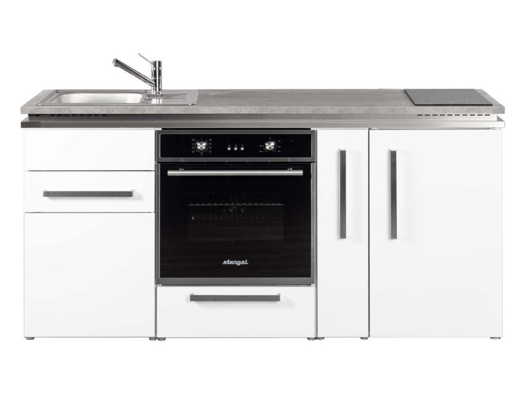 Singleküche MDB 180 A weiß mit Kühlschrank