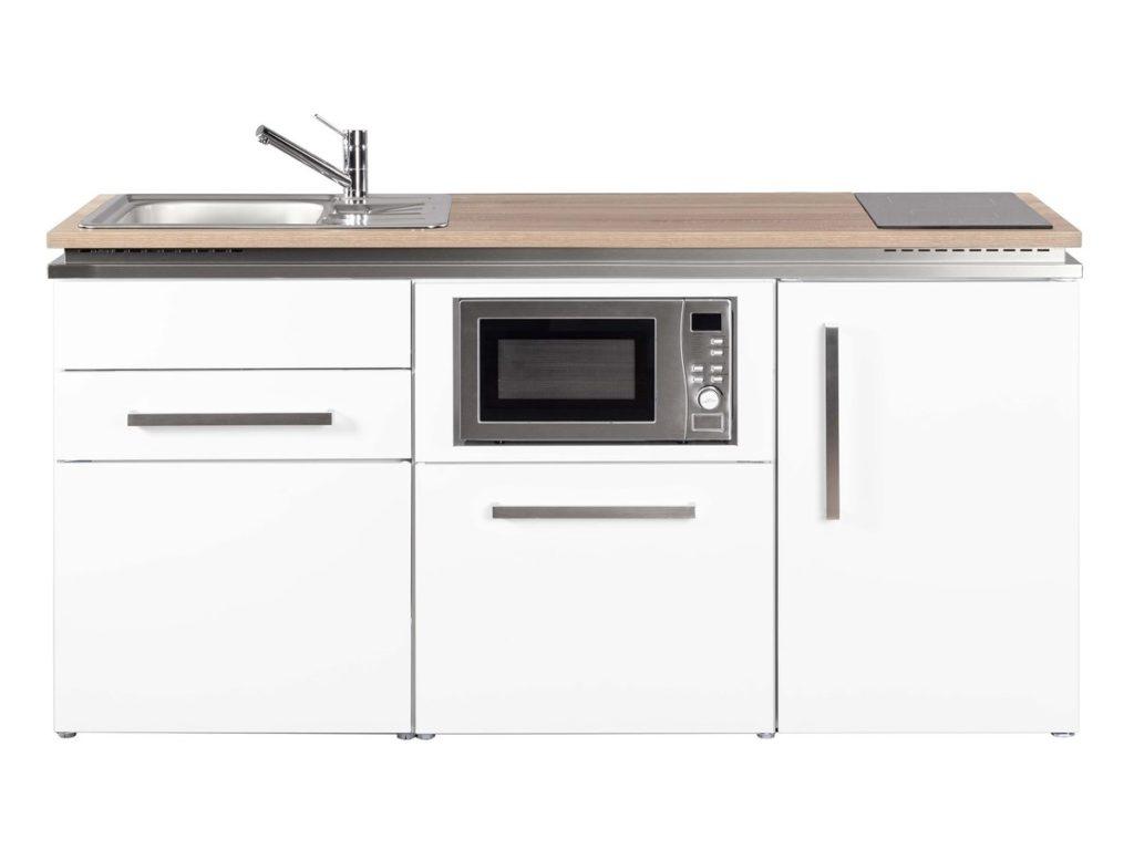 Metallküche Designline Stengel MDGSM 170 weiß