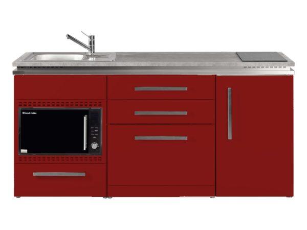 Küche Stengel rot MDGSMOS 180 mit Kühlschrank Designline