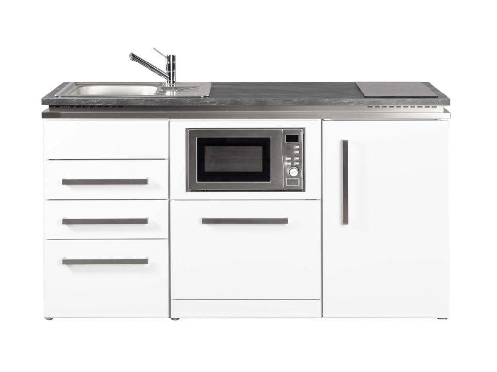 Metallküche Stengel Designline MDGSM3 weiß